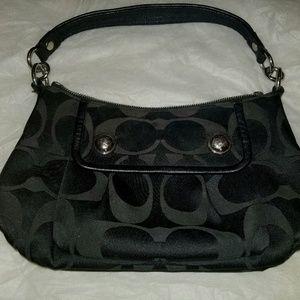 BEAUTIFUL- Coach Black Large C's Handbag FREE GIFT